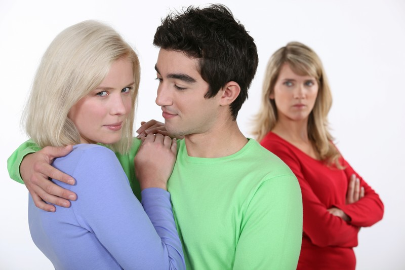 Woman jealous of couple